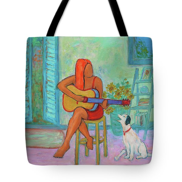 Tote Bag featuring the painting Summer Serenade II by Xueling Zou