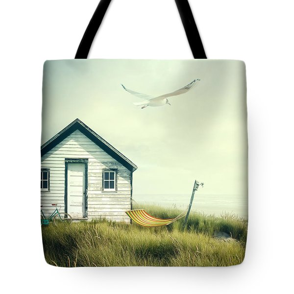 Summer Shack With Hammock By The Ocean Tote Bag