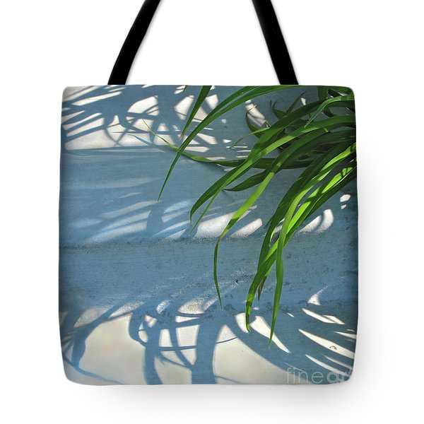 Tote Bag featuring the photograph Summer Shadows by Nancy Lee Moran