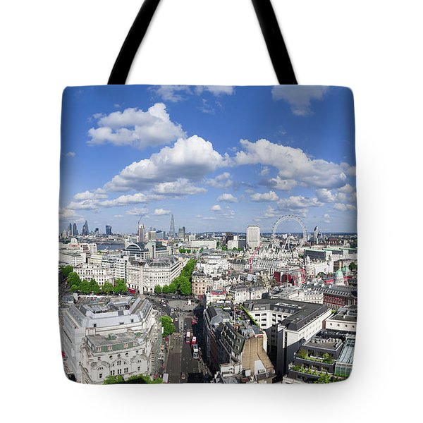 Summer Skies Over London Tote Bag