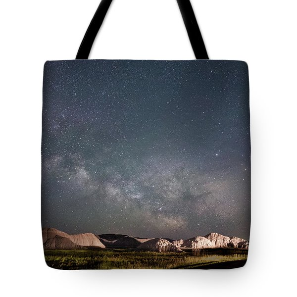 Summer Sky At Badlands  Tote Bag