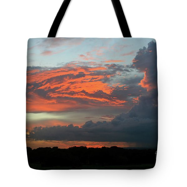Summer Sky On Fire  Tote Bag