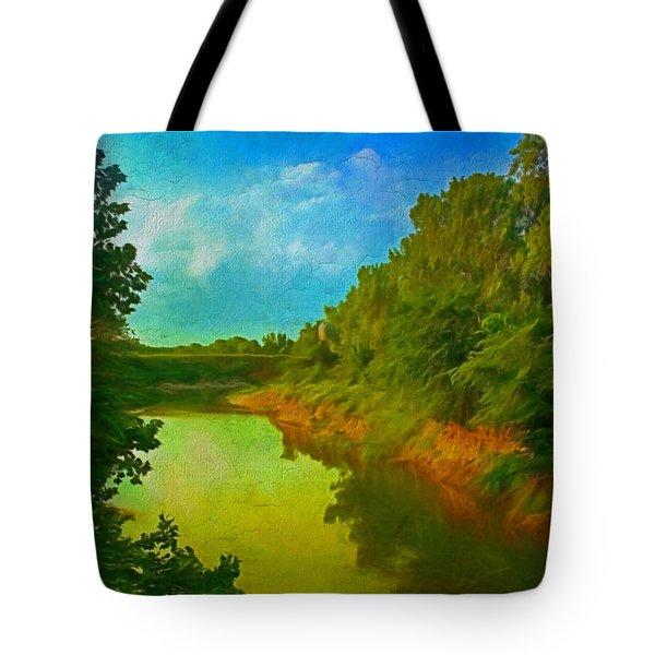 Summer Soft Morning Creek Tote Bag