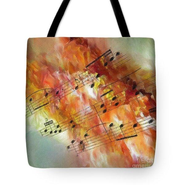 Summer Sonata Sq Tote Bag