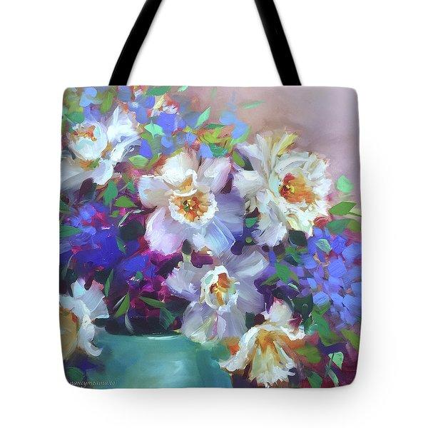 Summer Spray Daffodils Tote Bag
