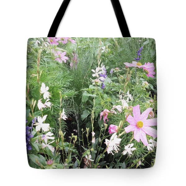 Tote Bag featuring the digital art Summer Spray by Julian Perry