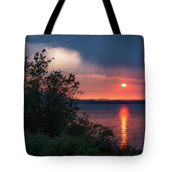 Tote Bag featuring the photograph Summer Storm by Jan Davies
