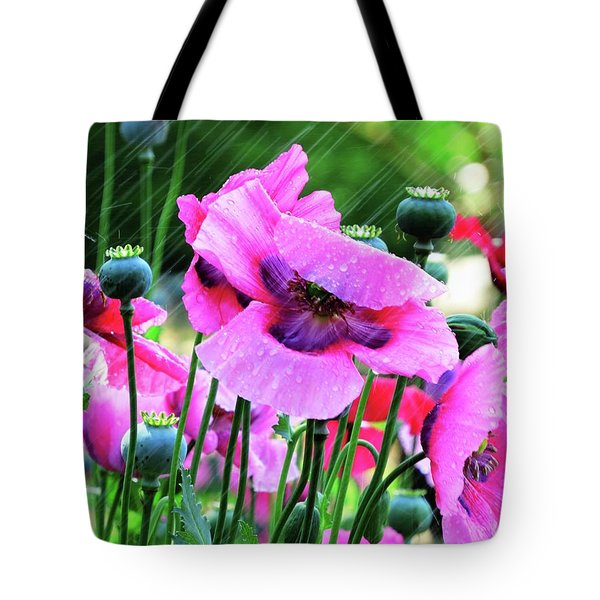 Tote Bag featuring the digital art Summer Storm by Kathleen Illes