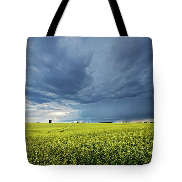Summer Storm Over Alberta Tote Bag
