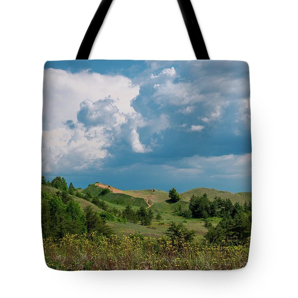 Summer Storm Over The Dunes Tote Bag