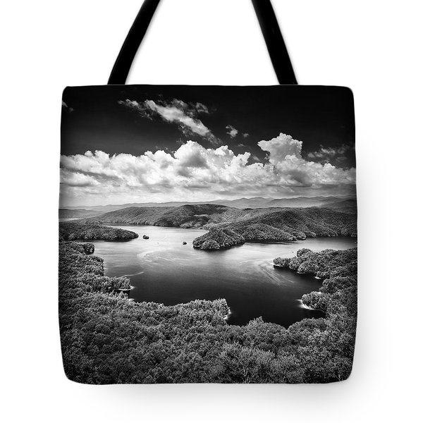 Summer Storms Over Lake Jocassee Tote Bag