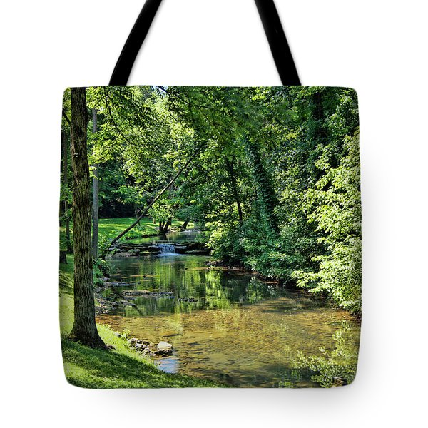 Tote Bag featuring the photograph Summer Stream by Cricket Hackmann