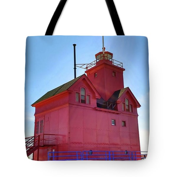 Tote Bag featuring the photograph Summer Sun And Big Red by Michelle Calkins