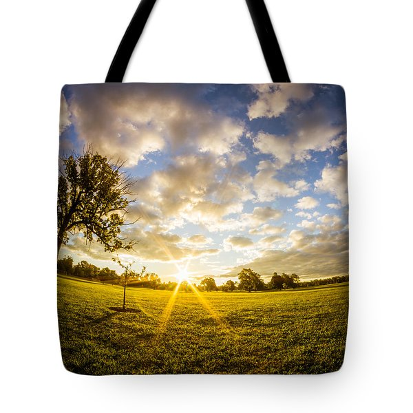 Summer Sunrise Across Delware Park Meadow Tote Bag by Chris Bordeleau
