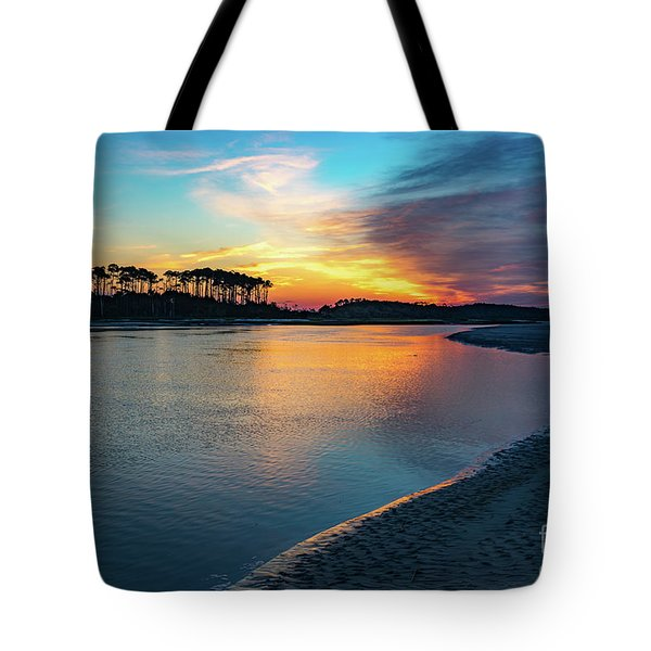 Summer Sunrise At The Inlet Tote Bag