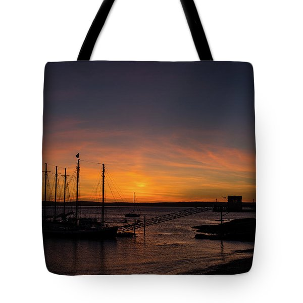Summer Sunrise In Bar Harbor Tote Bag