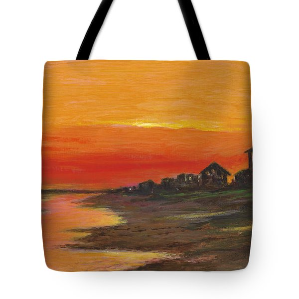 Summer Sunset At  Crystal Beach Tote Bag