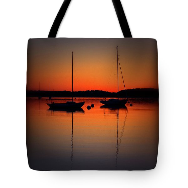 Summer Sunset Calm Anchor Tote Bag