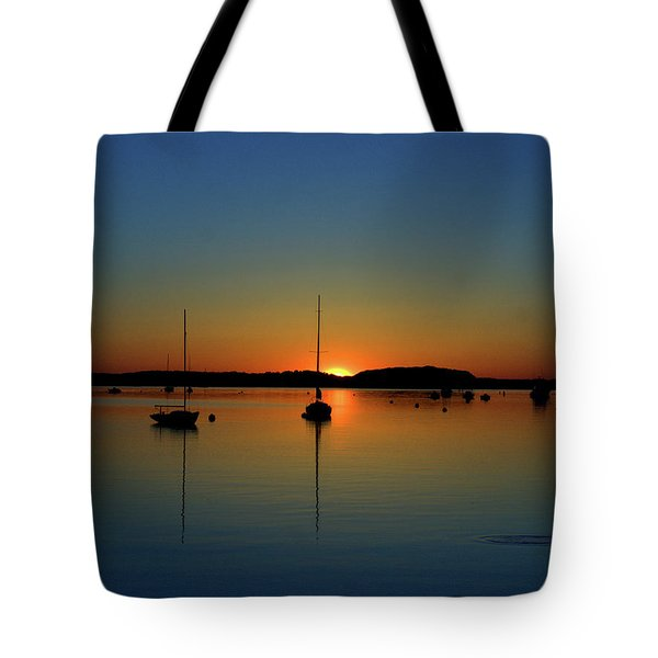 Summer Sunset Monument Beach Tote Bag