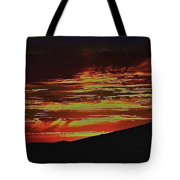 Summer Sunset Rain Tote Bag
