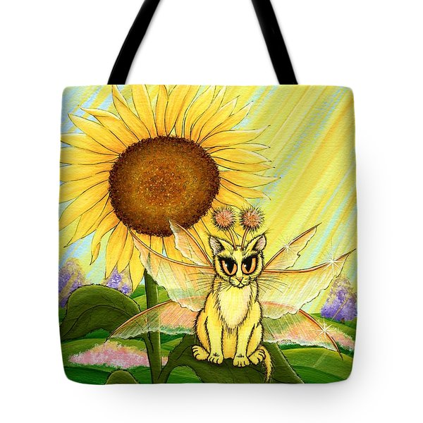 Summer Sunshine Fairy Cat Tote Bag