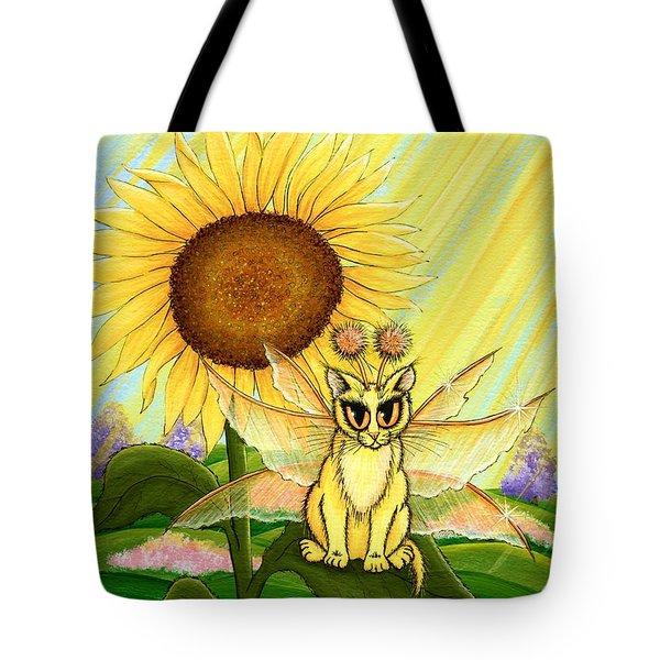 Summer Sunshine Fairy Cat Tote Bag