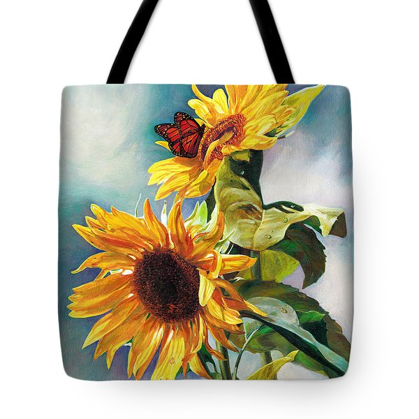 Tote Bag featuring the painting Summer by Svitozar Nenyuk