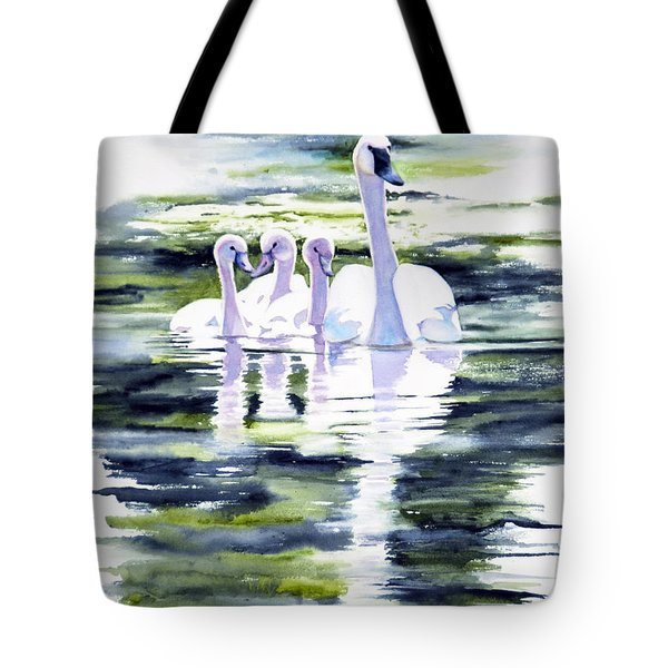 Summer Swans Tote Bag