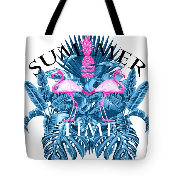 Summer Time Tropical  Tote Bag