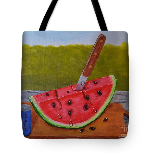 Tote Bag featuring the painting Summer Treat by Melvin Turner