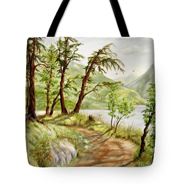 Summer Walk Tote Bag