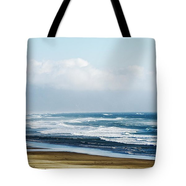 Summer Waves Netarts Oregon Tote Bag