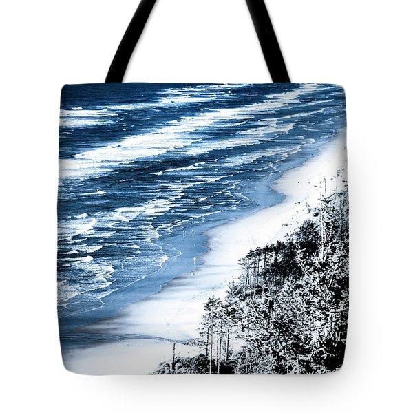 Summer Waves Cape Lookout Oregon Coast Tote Bag