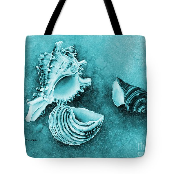 Summer Whispers On Blue Tote Bag