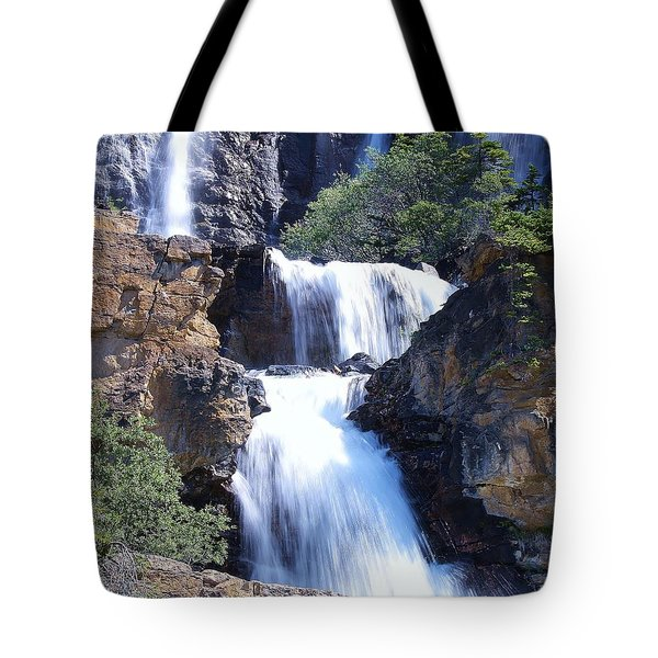 Summer White Water Tote Bag
