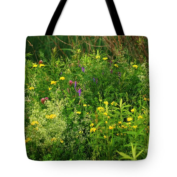 Tote Bag featuring the photograph Summer Wildflowers by Smilin Eyes  Treasures