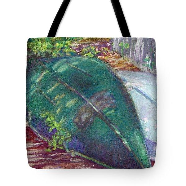 Summerime Overturned Tote Bag by Katherine  Berlin