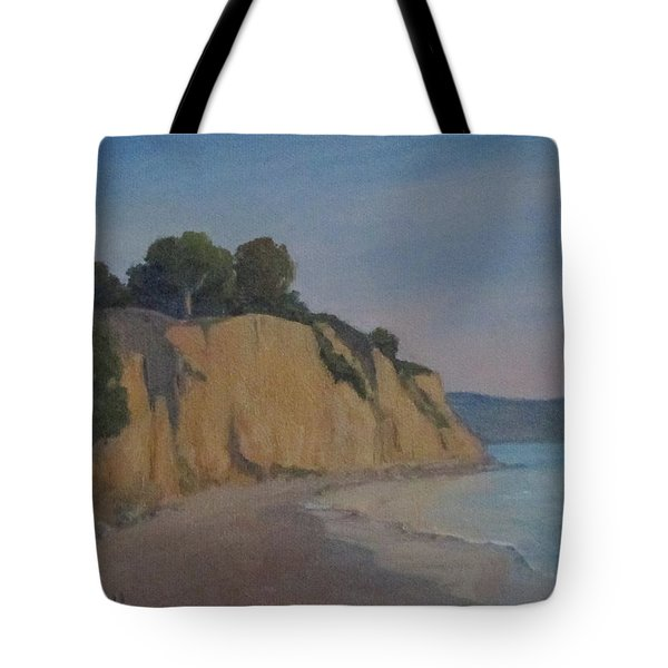 Tote Bag featuring the painting Summerland Beach Study by Jennifer Boswell