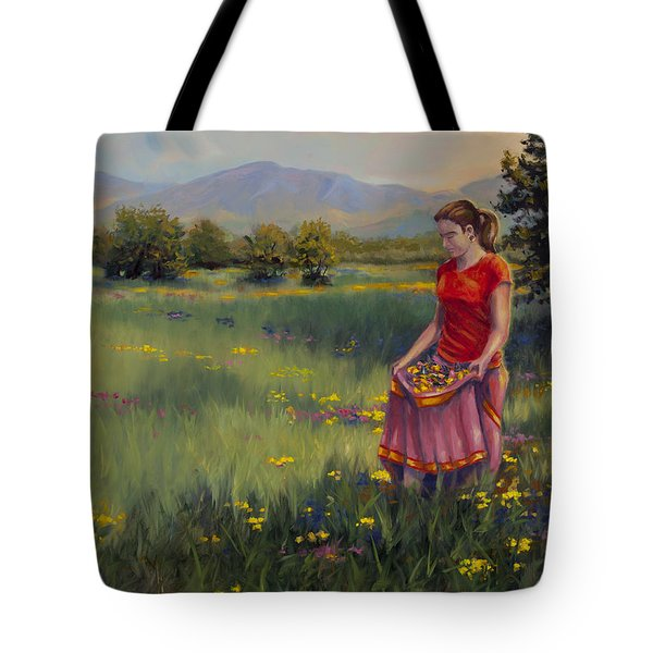 Tote Bag featuring the painting Summers Bounty by Kurt Jacobson