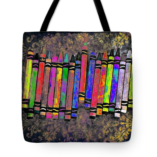 Summer's Crayon Love Tote Bag by Iowan Stone-Flowers