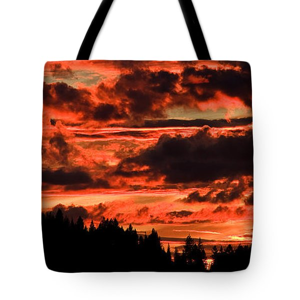 Summer's Crimson Fire Tote Bag