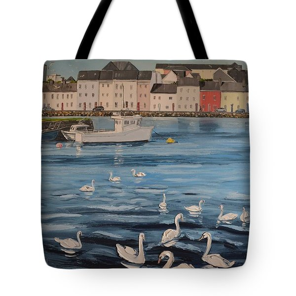 Summers Evening At Claddagh Quay Galway Ireland Tote Bag by Diana Shephard