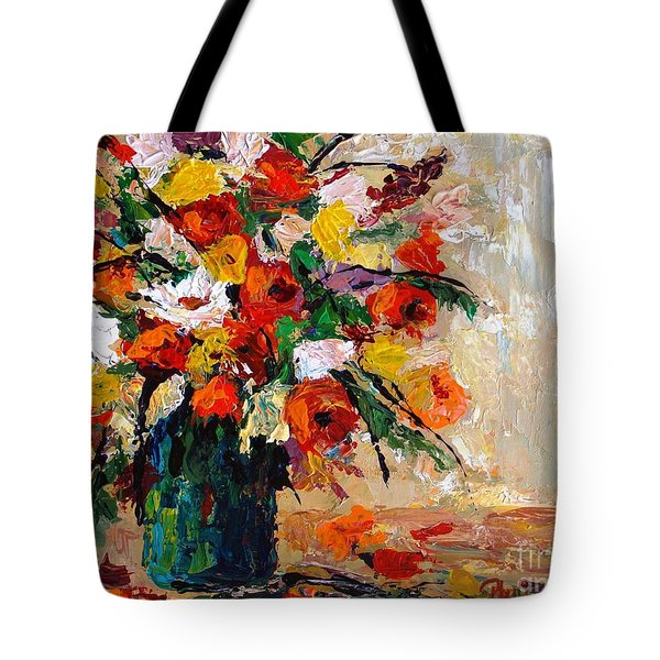 Tote Bag featuring the painting Summer's Riot by Phyllis Howard