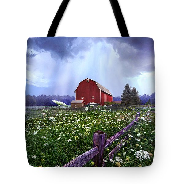 Summer's Shower Tote Bag by Phil Koch