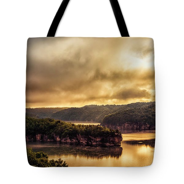 Summersville Lake At Daybreak Tote Bag