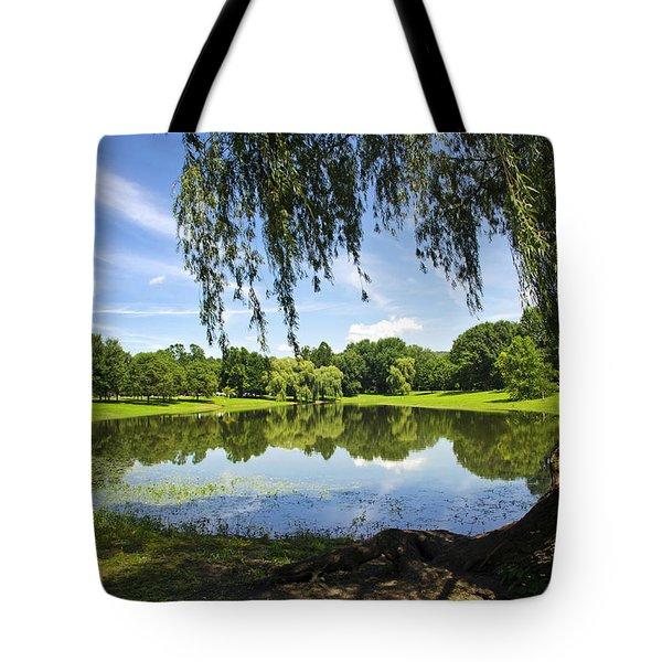 Summertime At Otsiningo Park Tote Bag by Christina Rollo