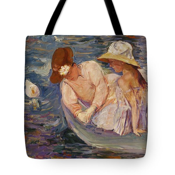Tote Bag featuring the painting Summertime By Mary Cassatt 1894 by Movie Poster Prints