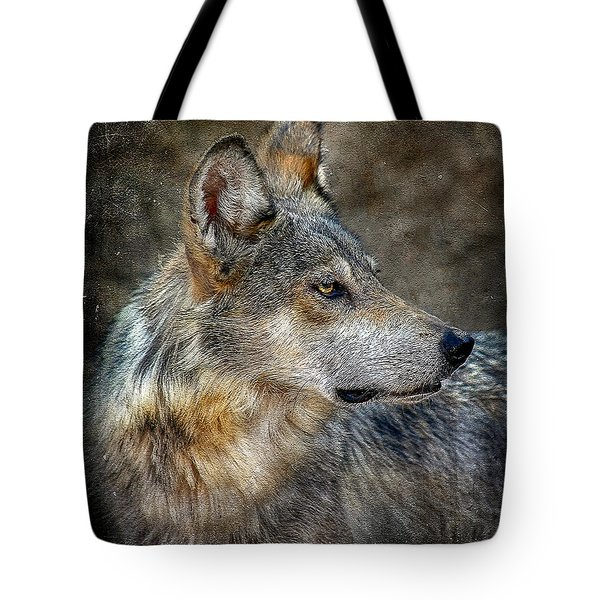 Summertime Coated Wolf Tote Bag