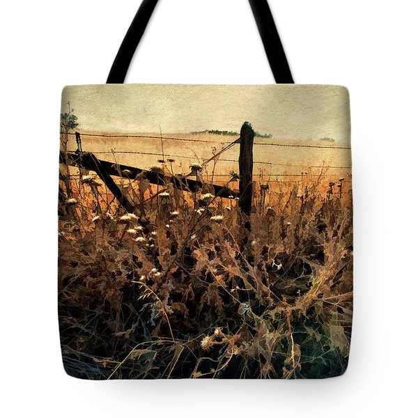 Summertime Country Fence Tote Bag by Steve Siri