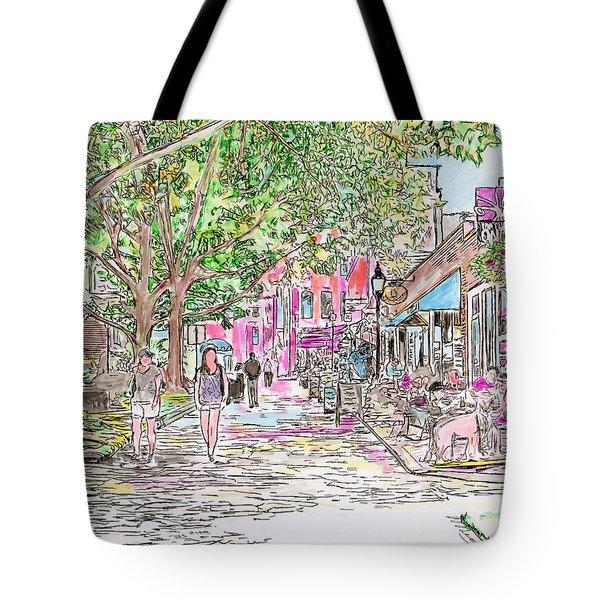Summertime In Newburyport, Massachusetts Tote Bag